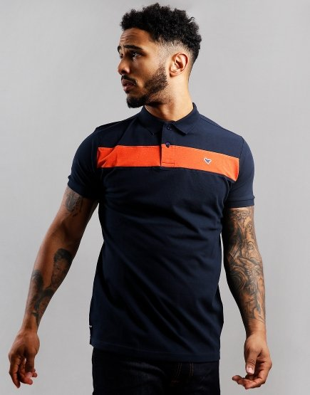 Weekend Offender Panama Polo Shirt Navy