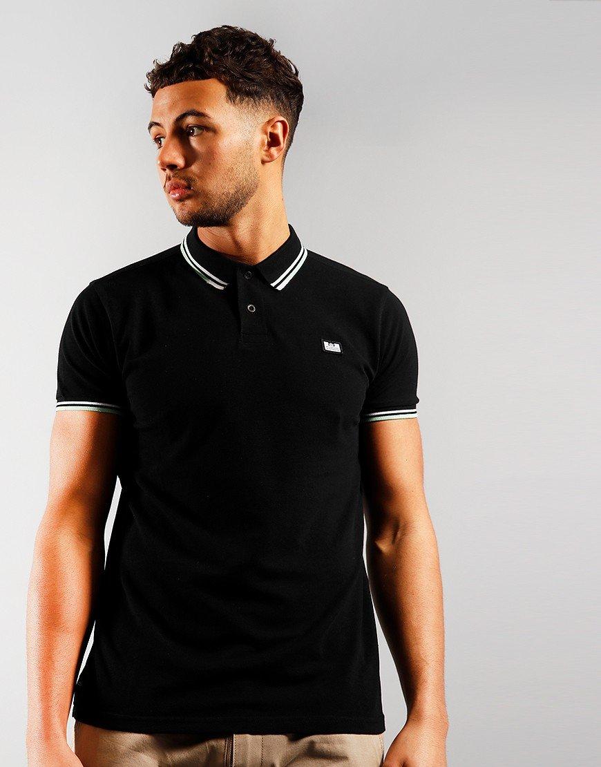 Weekend Offender Peaky Polo Shirt Black