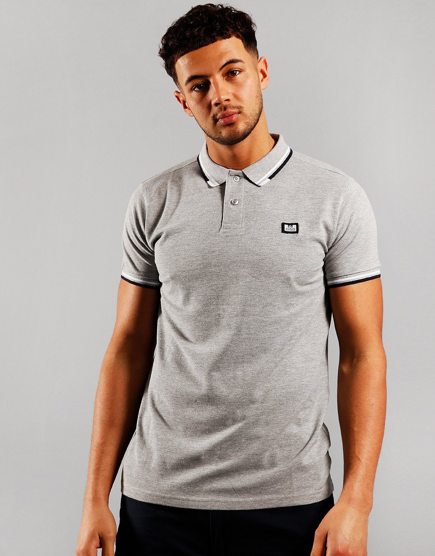 Weekend Offender Peaky Polo Shirt Grey Marl