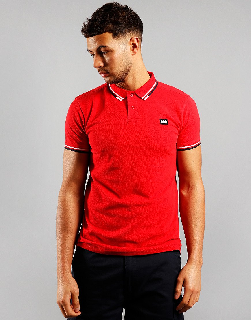 Weekend Offender Peaky Polo Shirt Bright Red