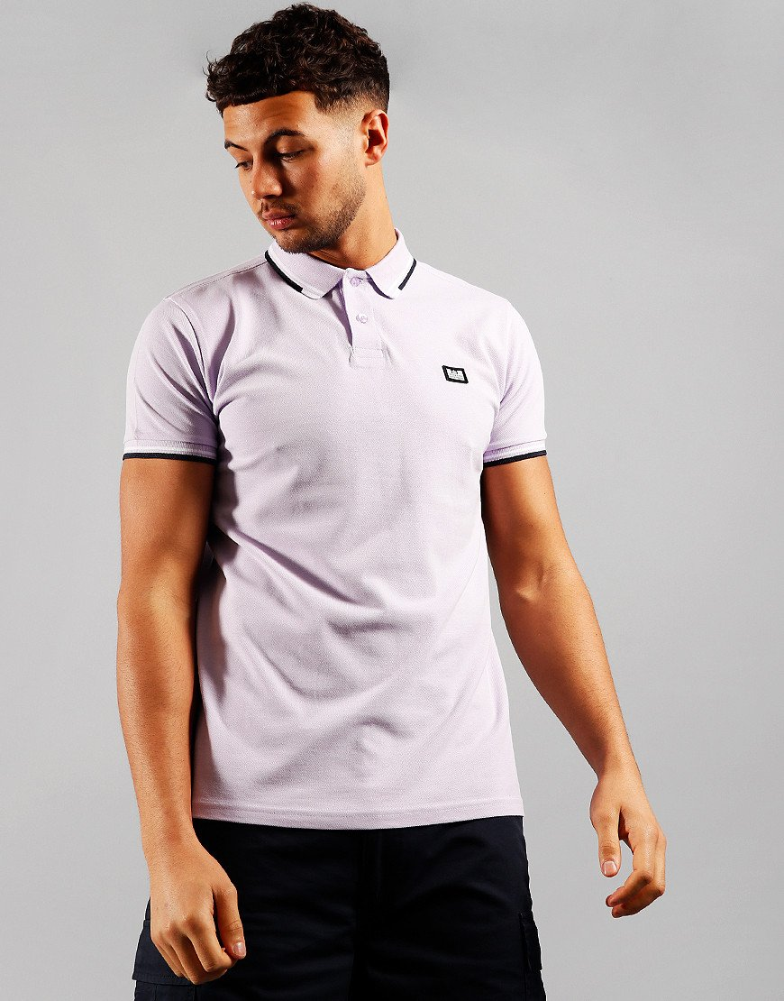 Weekend Offender Peaky Polo Shirt Lilac