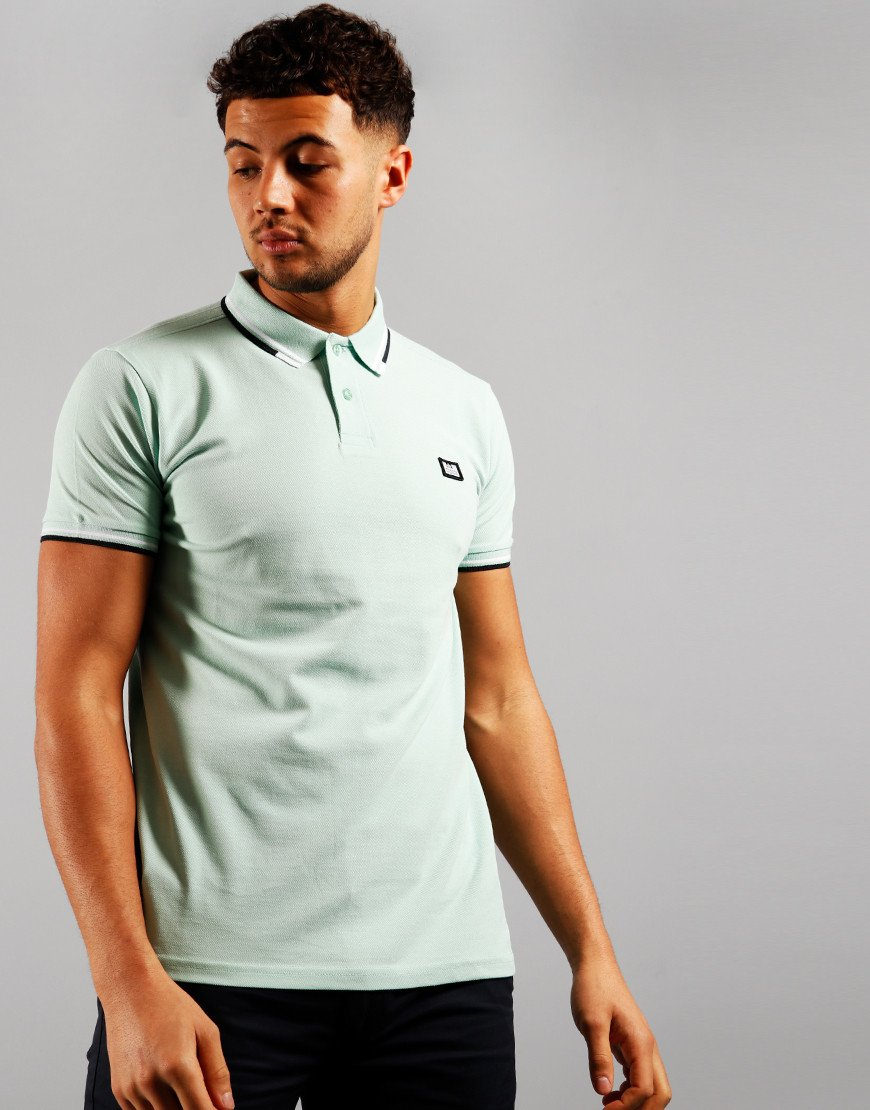 Weekend Offender Peaky Polo Shirt Mint