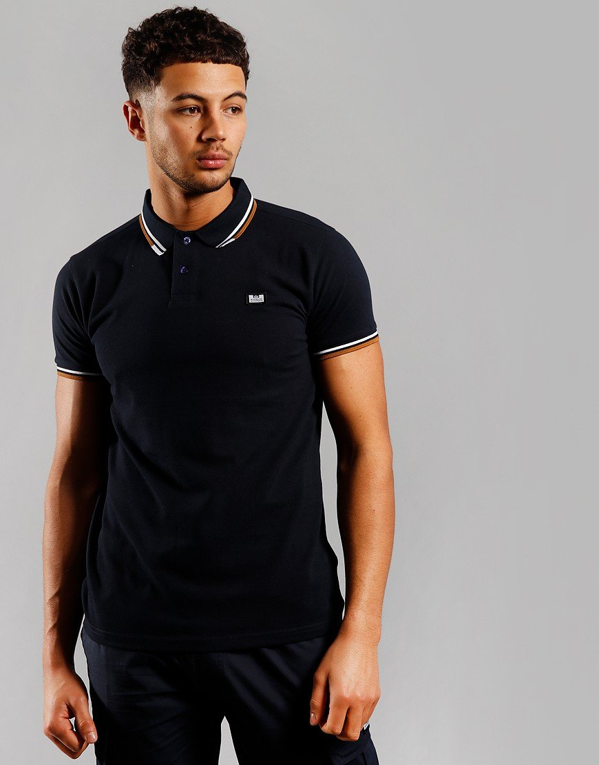 Weekend Offender Peaky Polo Shirt Navy