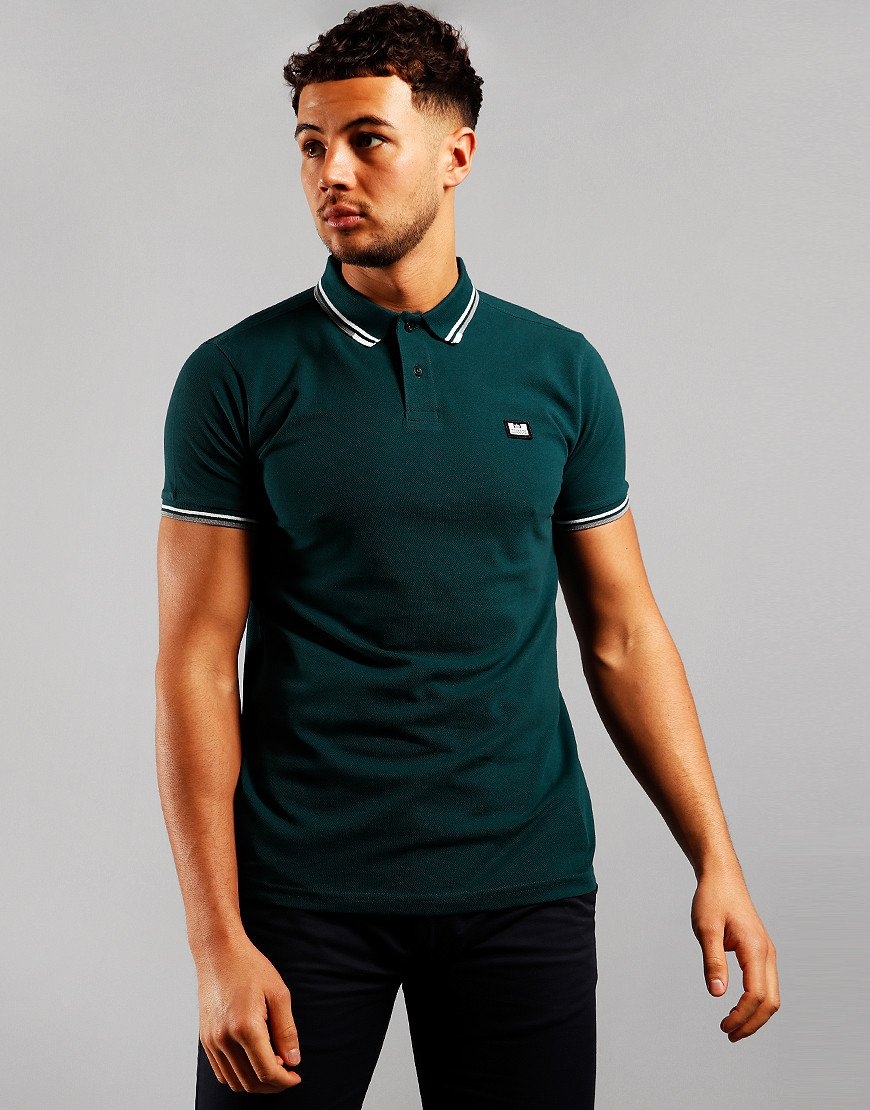 Weekend Offender Peaky Polo Shirt Pine Forest