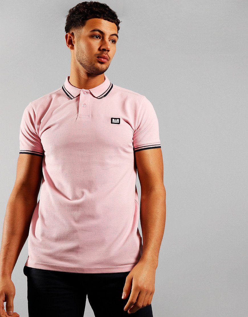 Weekend Offender Peaky Polo Shirt Rose