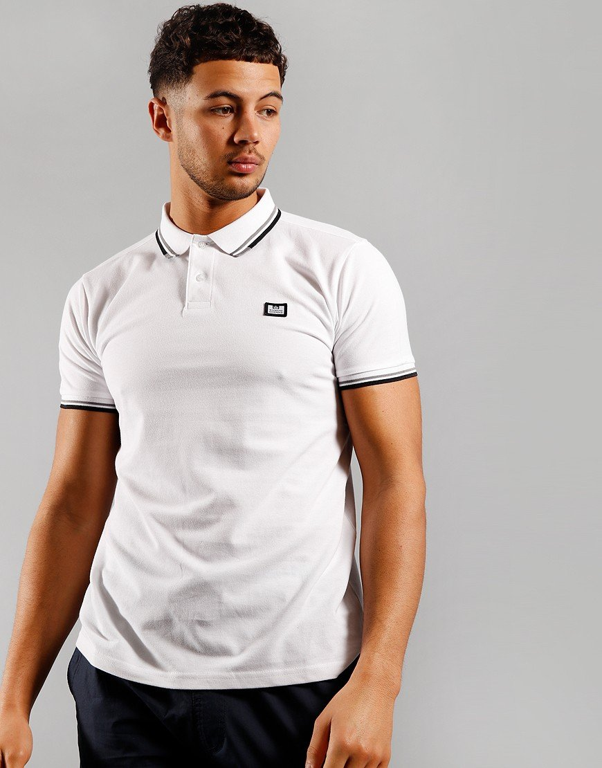 Weekend Offender Peaky Polo Shirt White