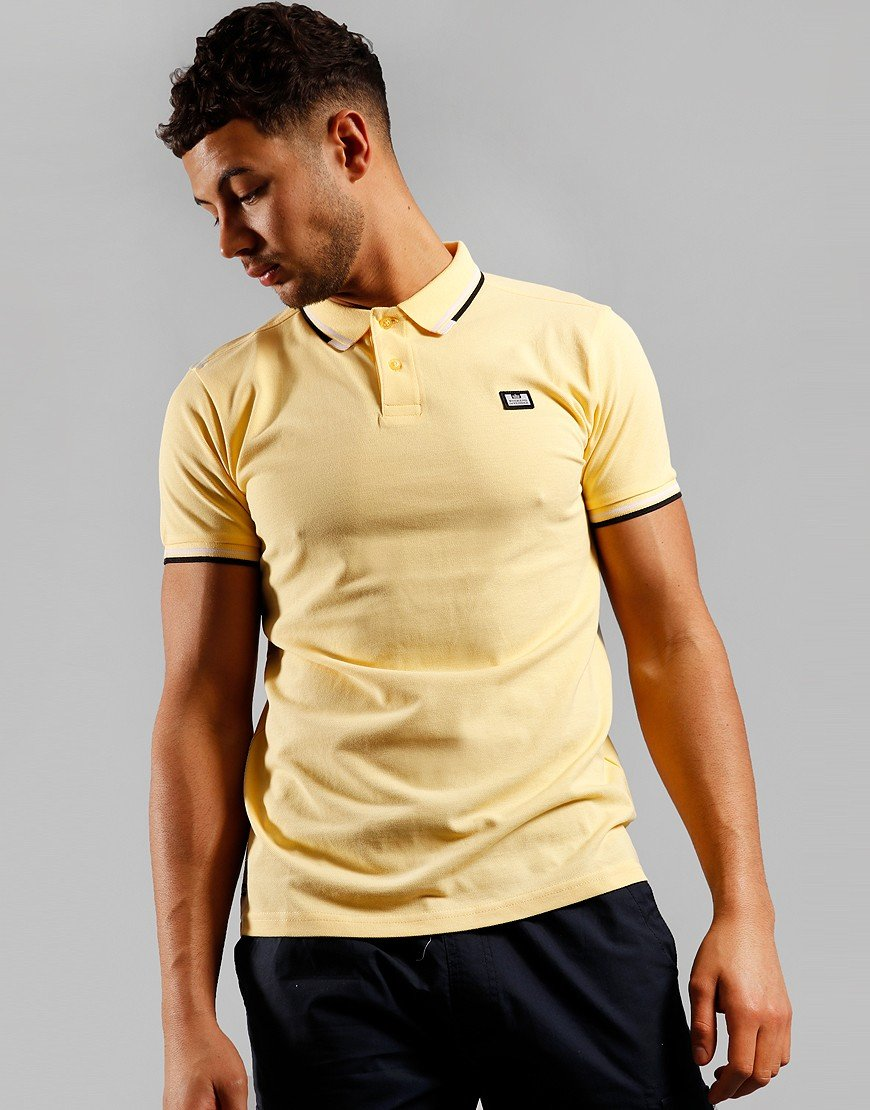 Weekend Offender Peaky Polo Shirt Yellow