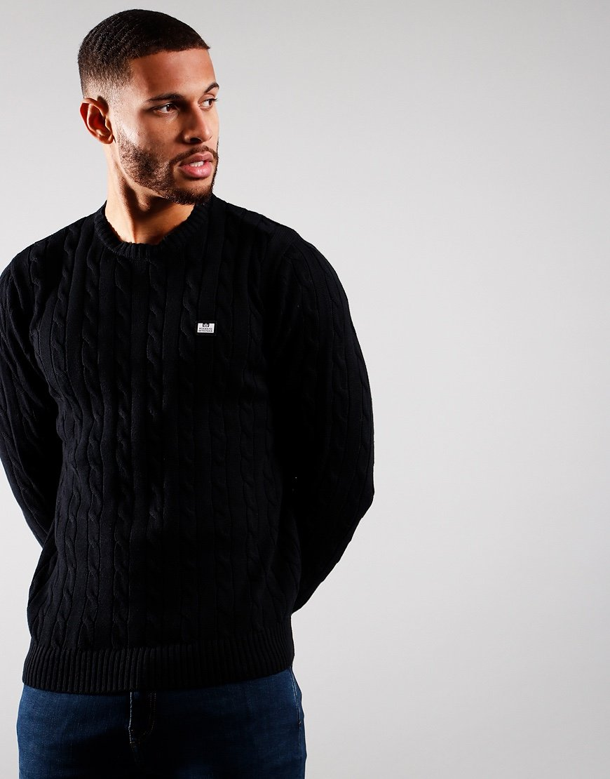 Weekend Offender Platinum Knit Black