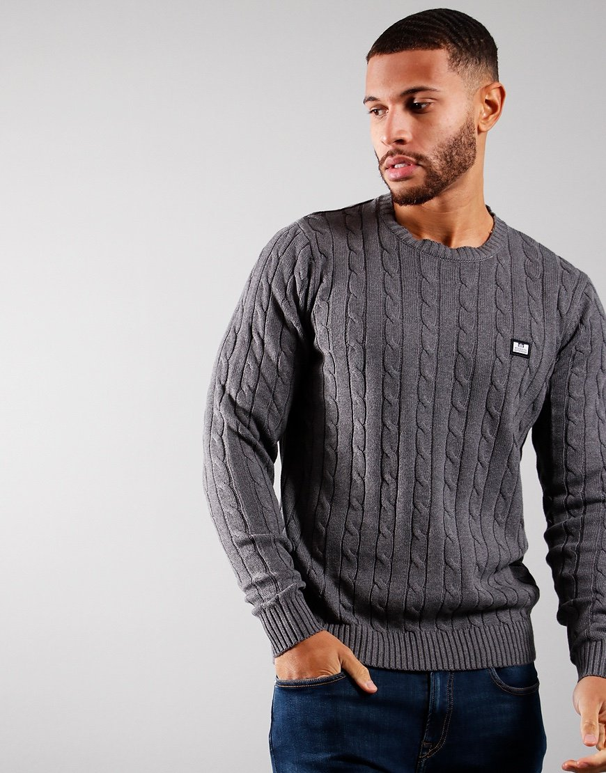 Weekend Offender Platinum Knit Dark Grey Melange