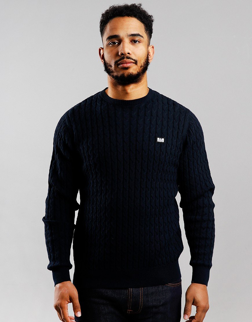 Weekend Offender Platinum Cable Knit Navy