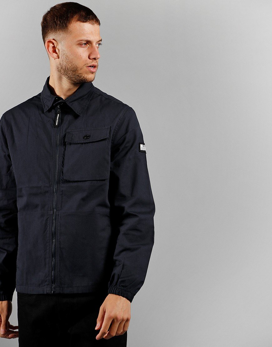 Weekend Offender Rhodium Overshirt Navy