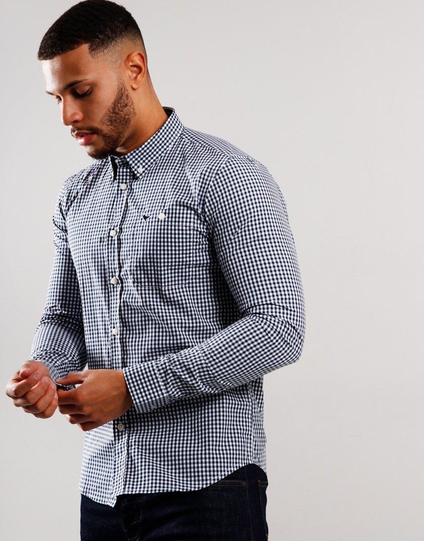 Weekend Offender Ricardo Long Sleeve Shirt Navy
