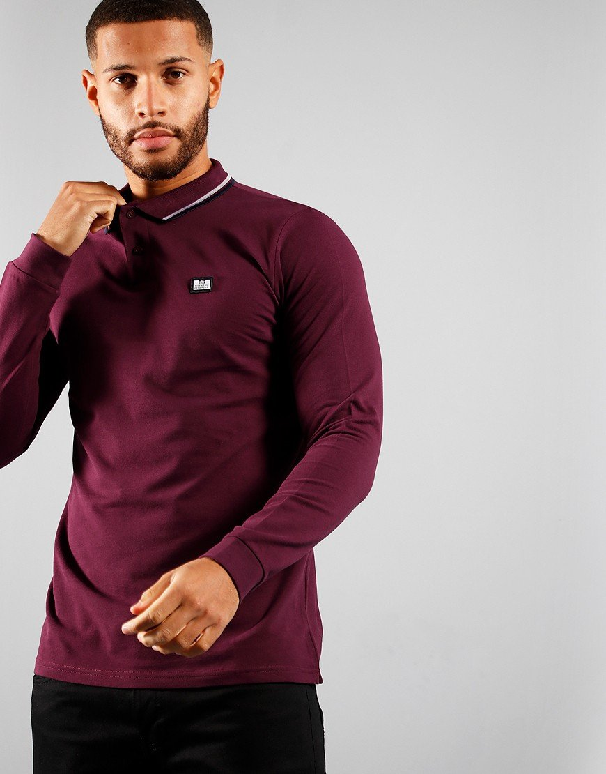 Weekend Offender Scooterman Long Sleeve Polo Port