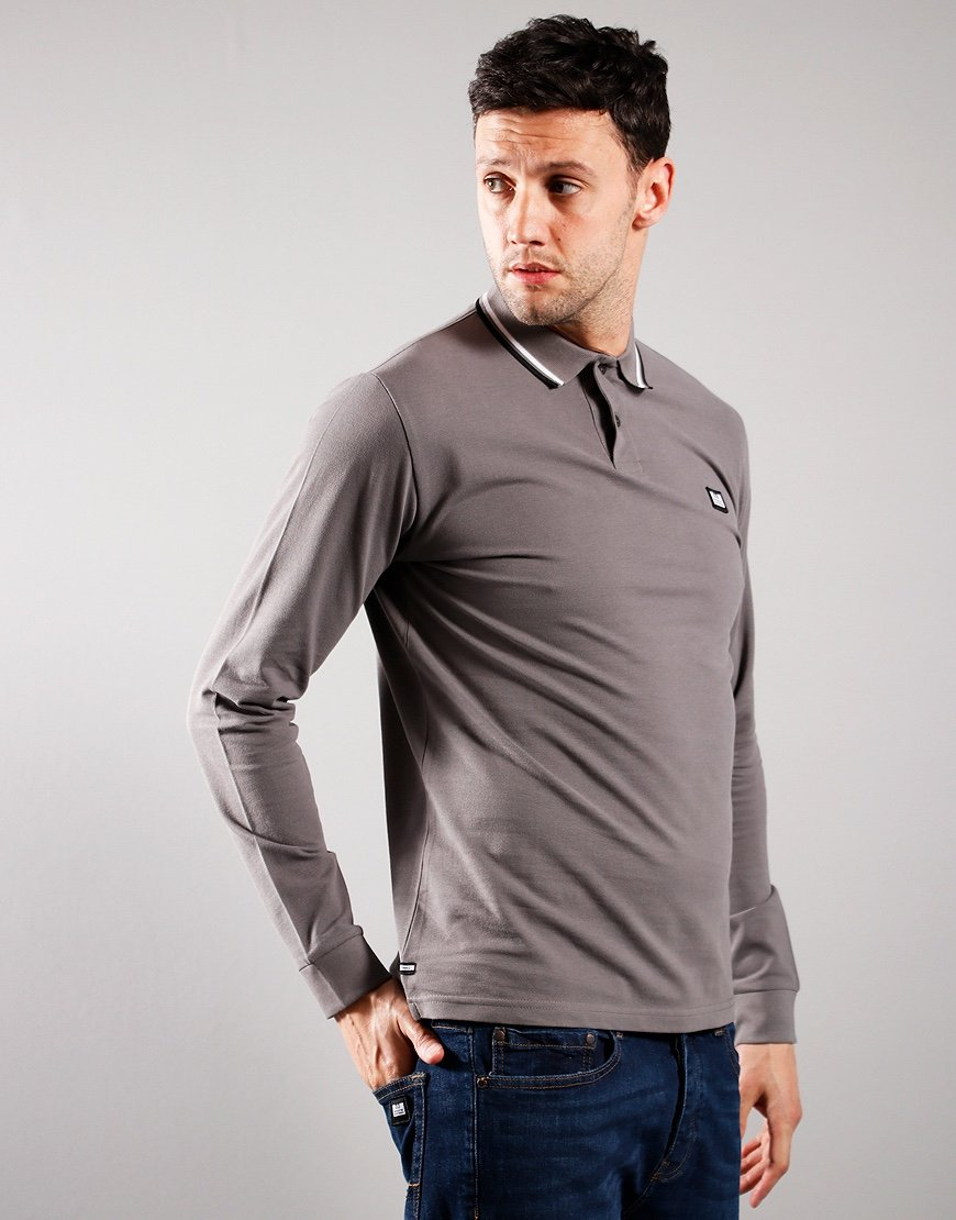 Weekend Offender Scooterman Polo Shirt Charcoal