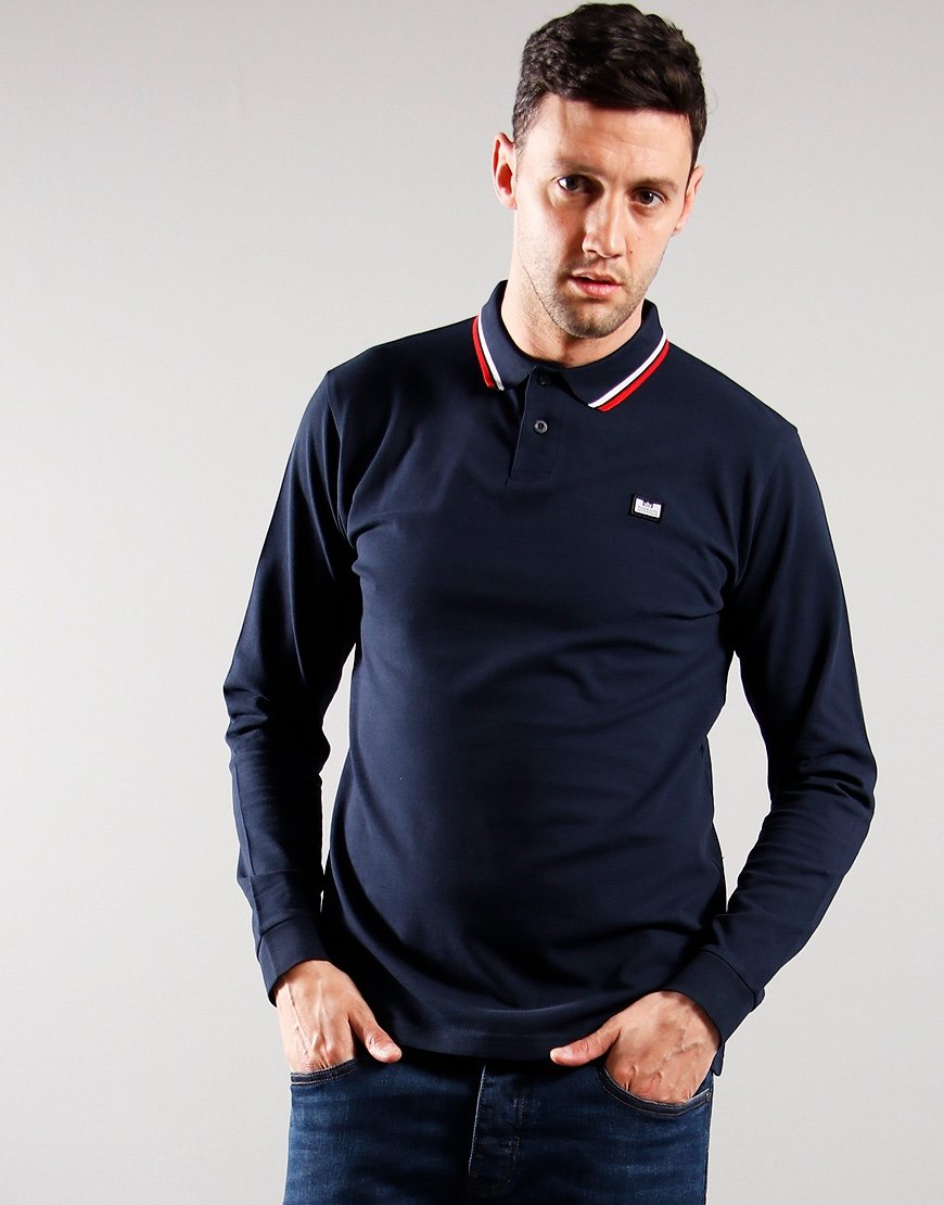 Weekend Offender Scooterman Polo Shirt Navy