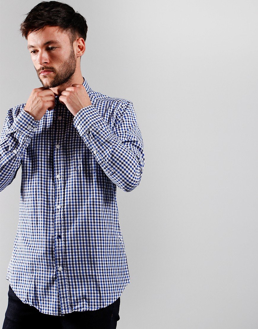 Weekend Offender Check Shirt Blue