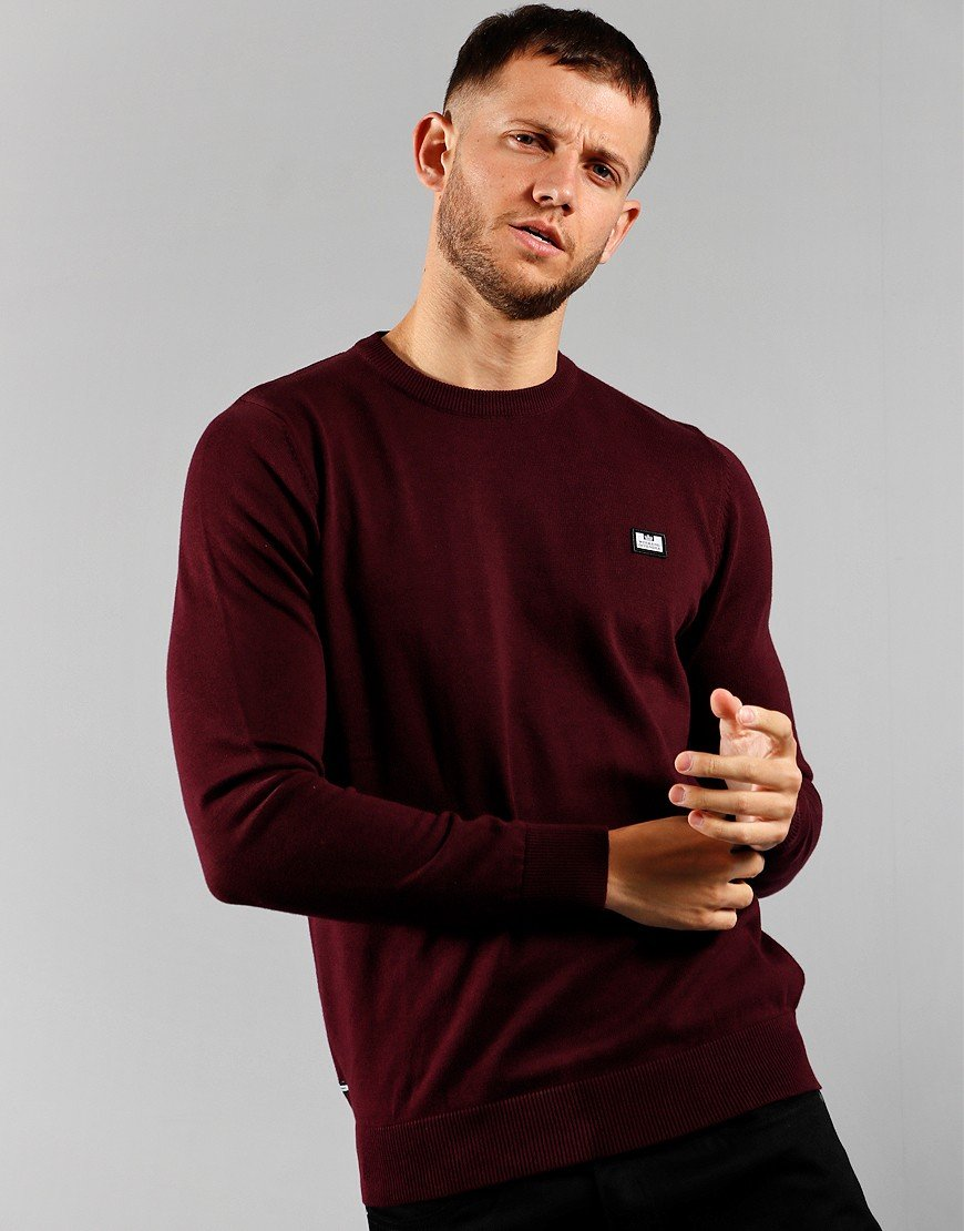Weekend Offender Silver Knitted Jumper Dark Port