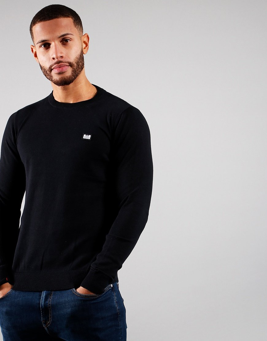 Weekend Offender Silver Knitted Jumper Black