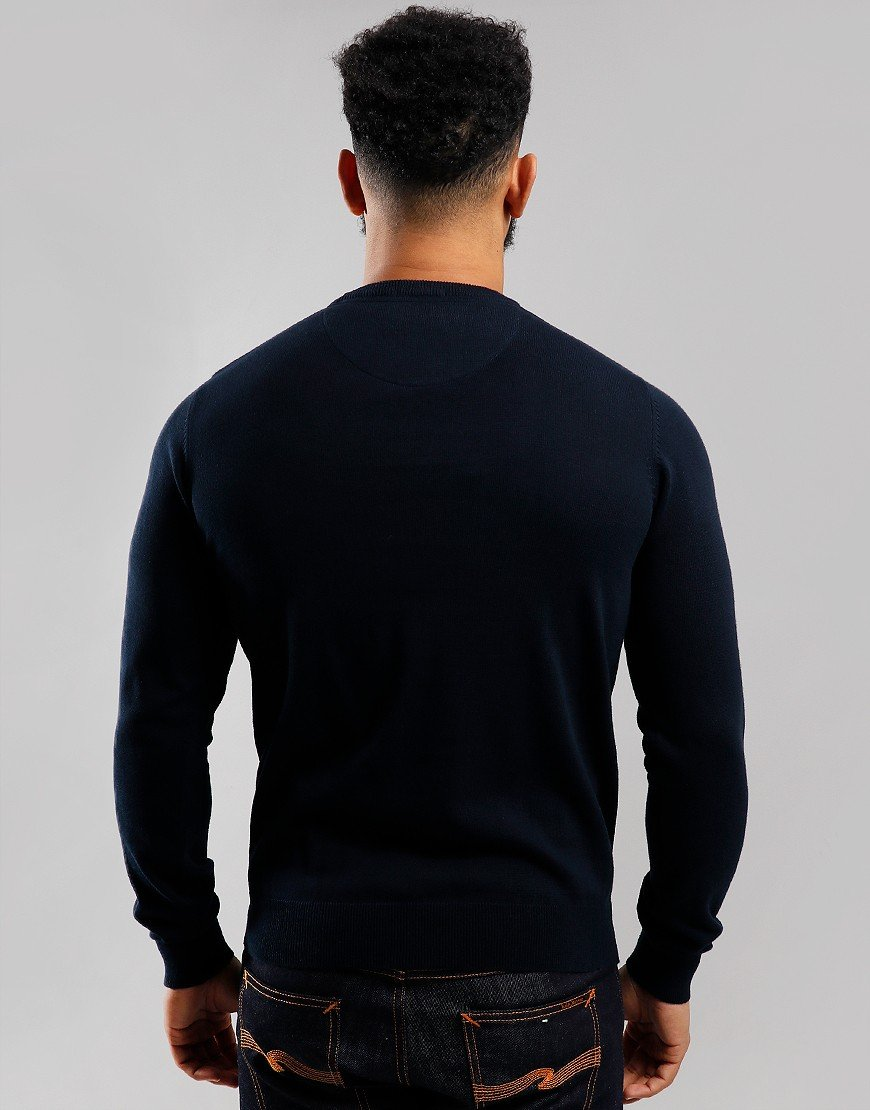 Weekend Offender Silver Crew Knit Navy