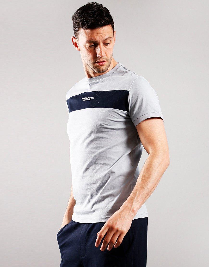 Weekend Offender Sima T-Shirt Platinum/Navy
