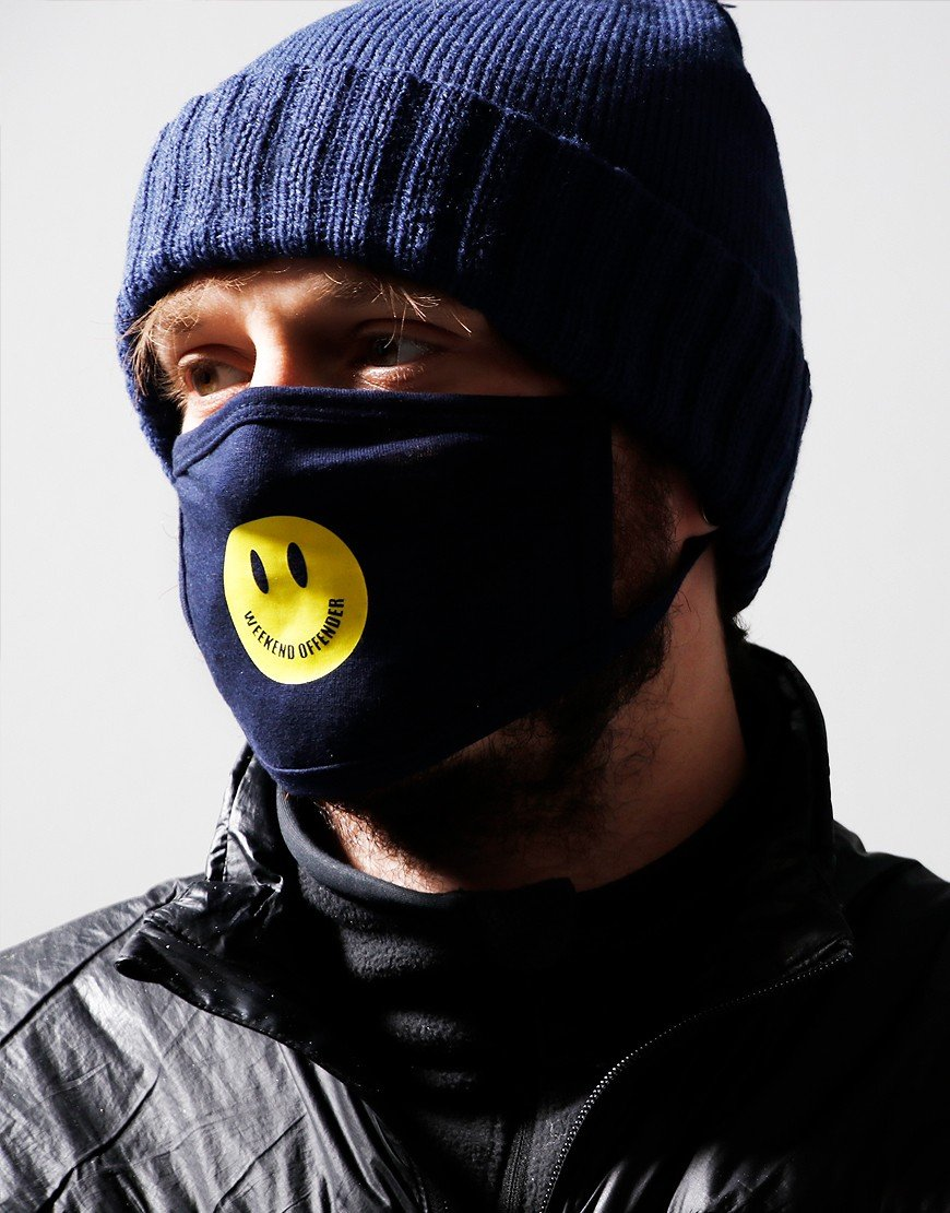 Weekend Offender Smile Mask Navy
