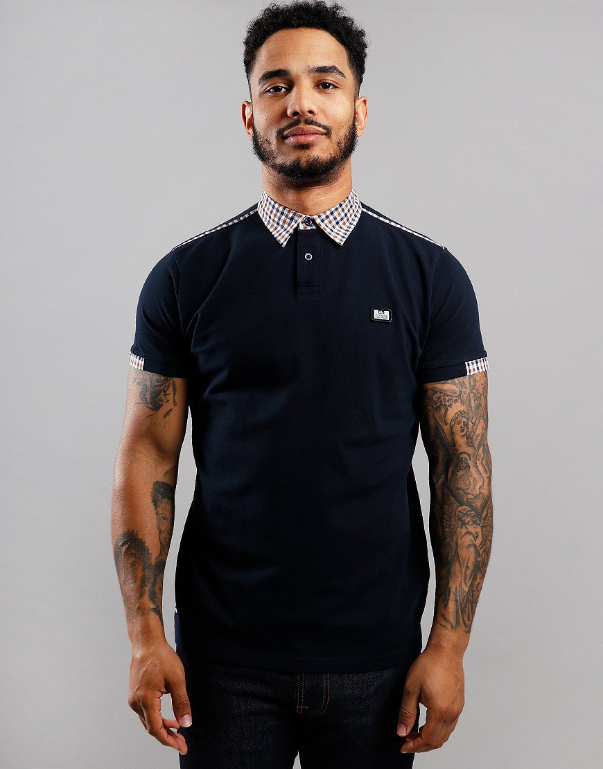 Weekend Offender Glacier Polo Shirt Navy