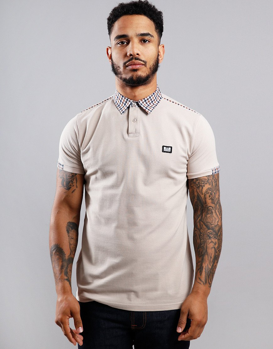 Weekend Offender Glacier Polo Shirt Sand