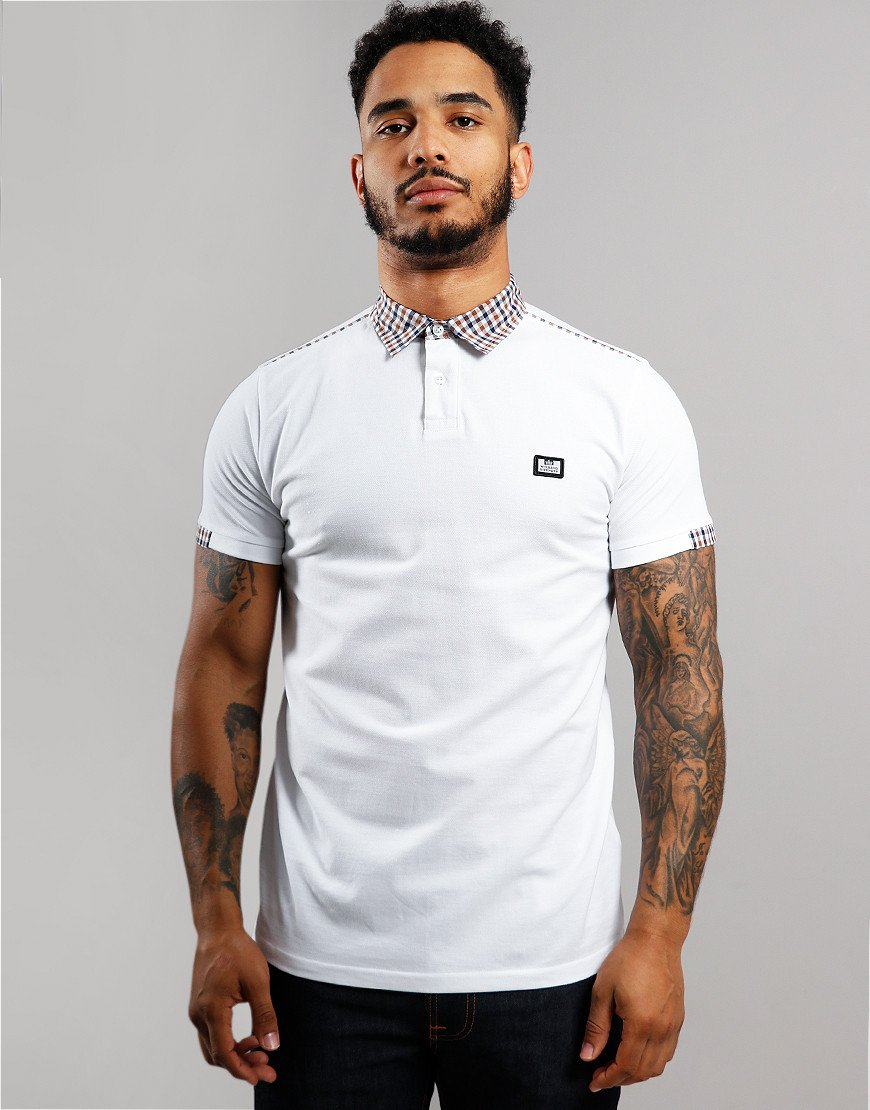 Weekend Offender Glacier Polo Shirt White