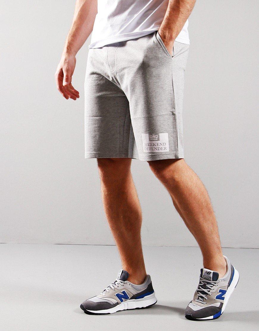 Weekend Offender Parma Sweat Short Grey Marl