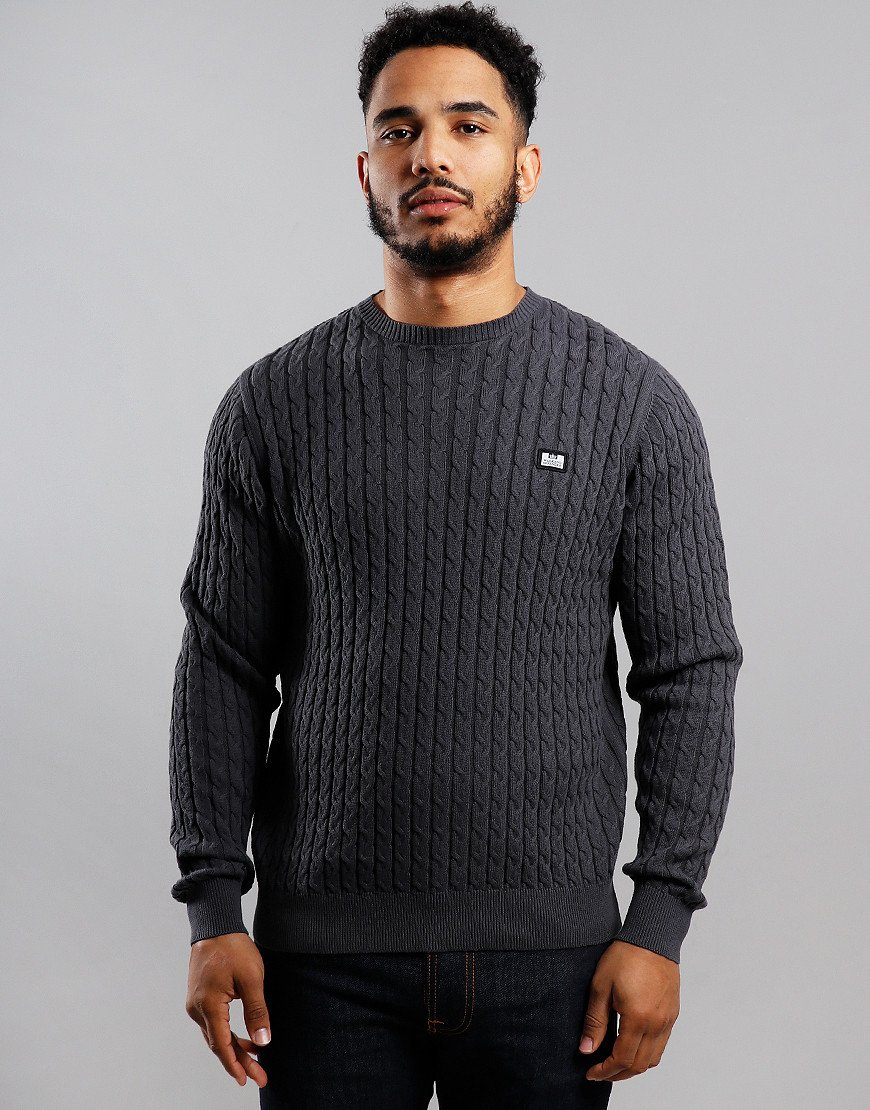 Weekend Offender Platinum Cable Knit Charcoal
