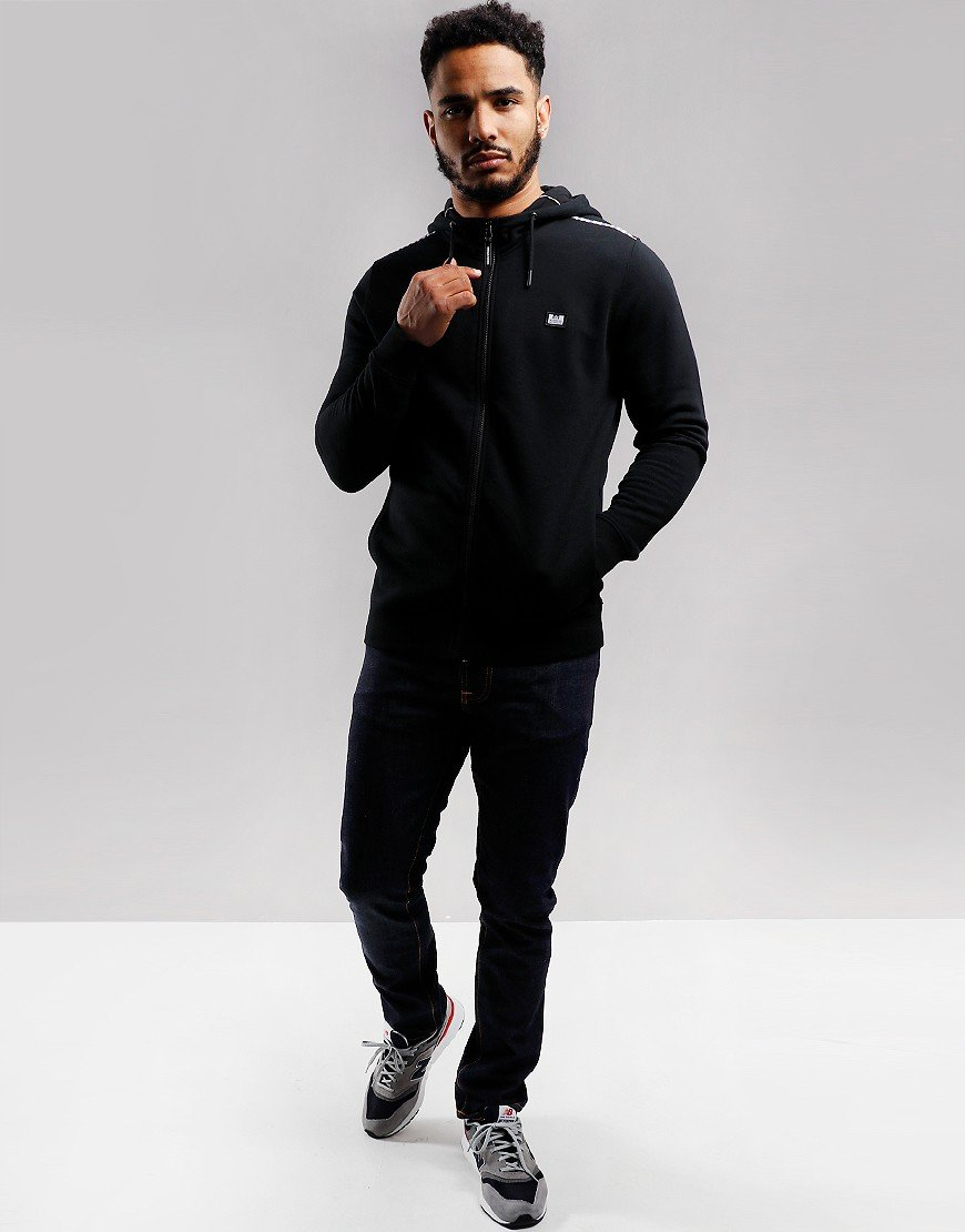 Weekend Offender Sodium Full Zip Hoodie Black