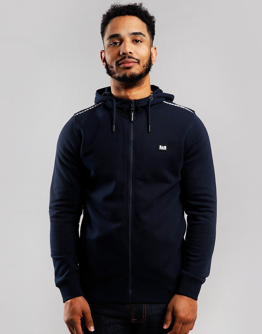 Weekend Offender Sodium Full Zip Hoodie Navy