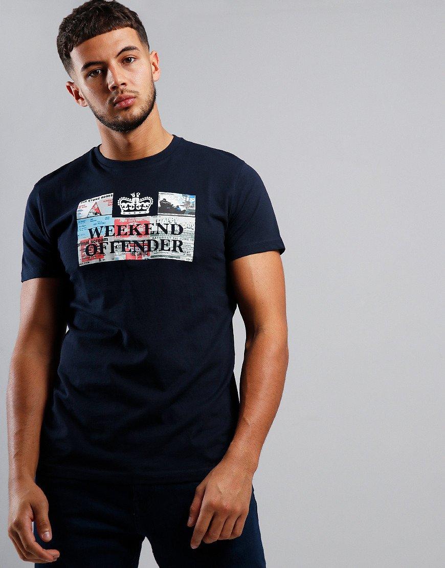 Weekend Offender Tickets T-Shirt Navy