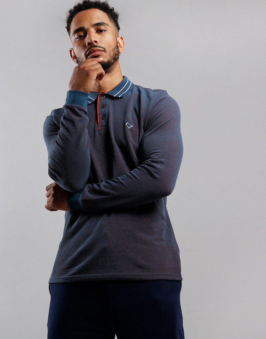 Weekend Offender Velez Polo Shirt Federal Blue/Navy/Purple