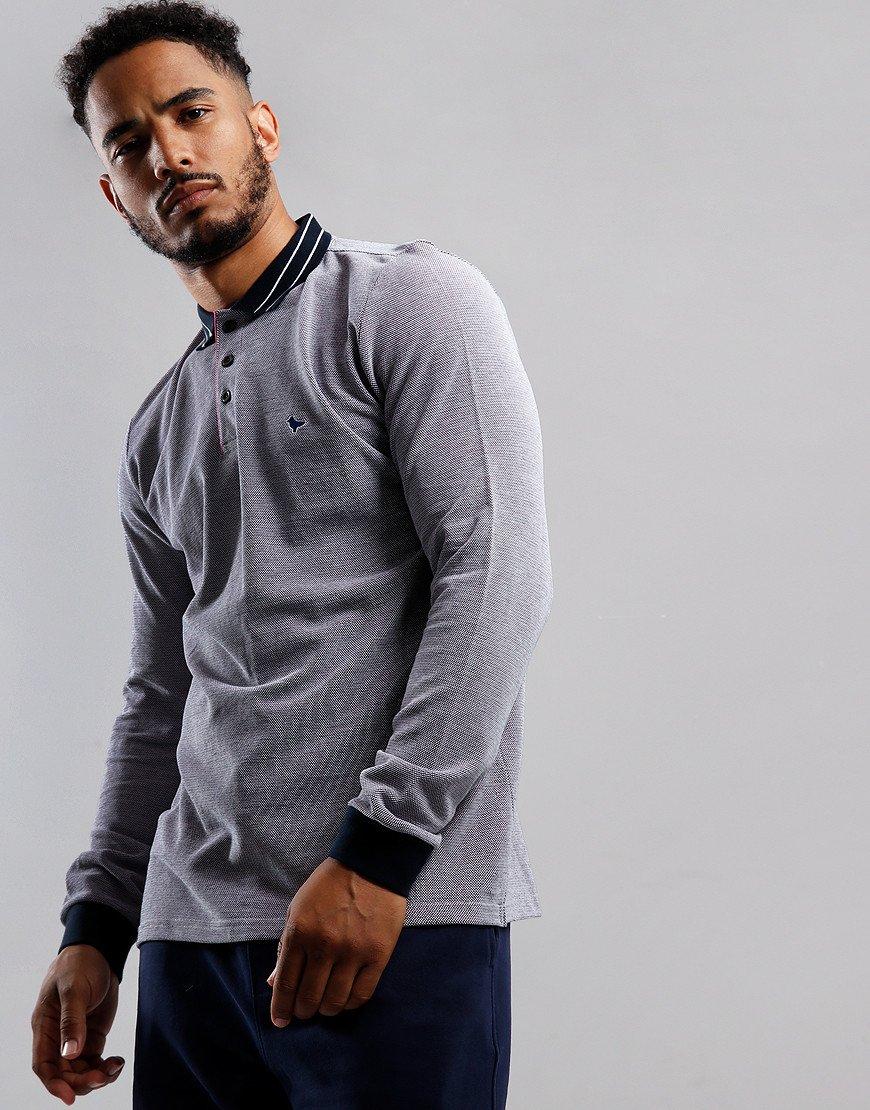 Weekend Offender Velez Polo Shirt Navy/White/Fuschia