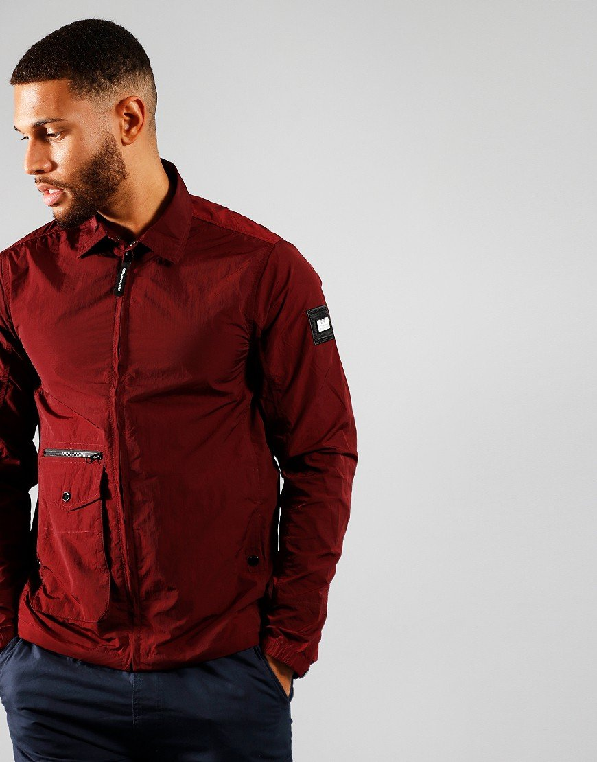 Weekend Offender Vinnie Jacket Burgundy
