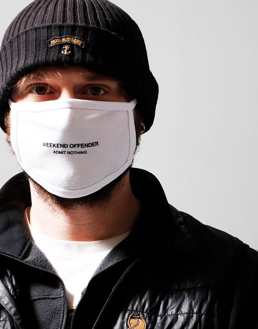 "Weekend Offender ""Admit Nothing"" Mask White"