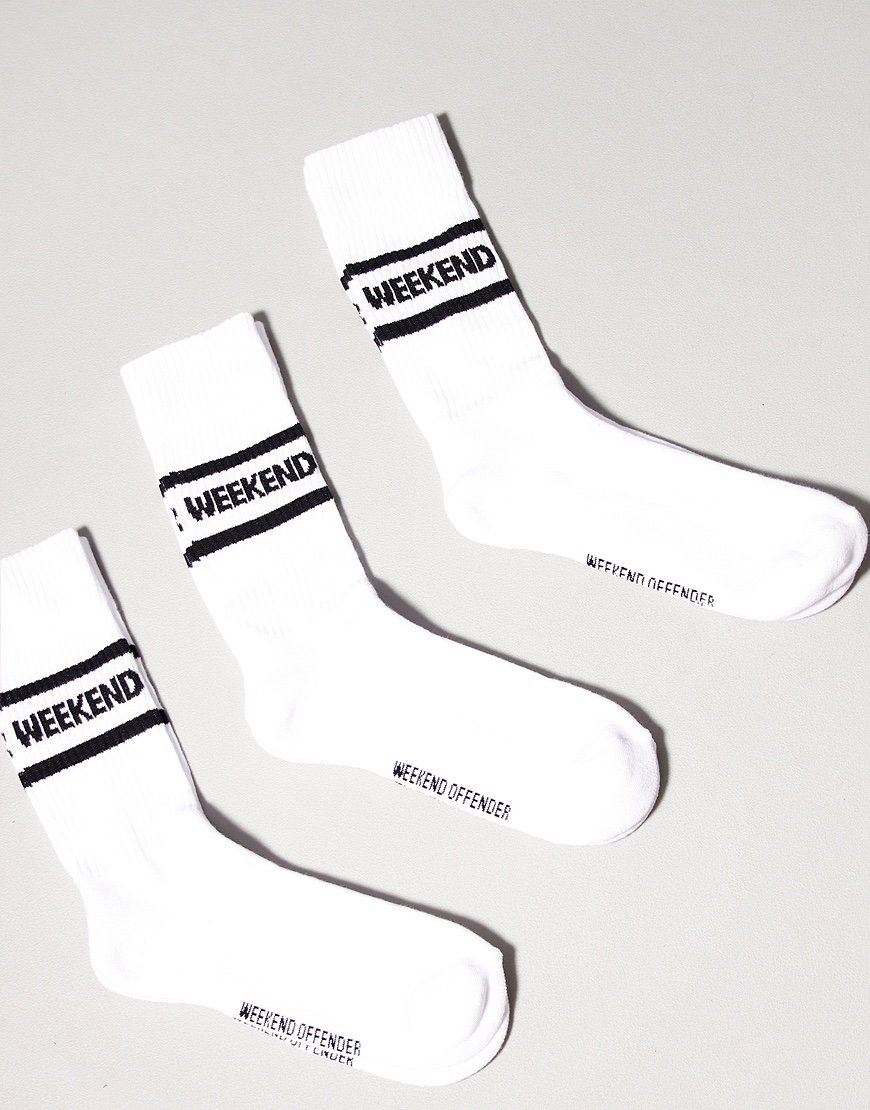 Weekend Offender WO Socks White
