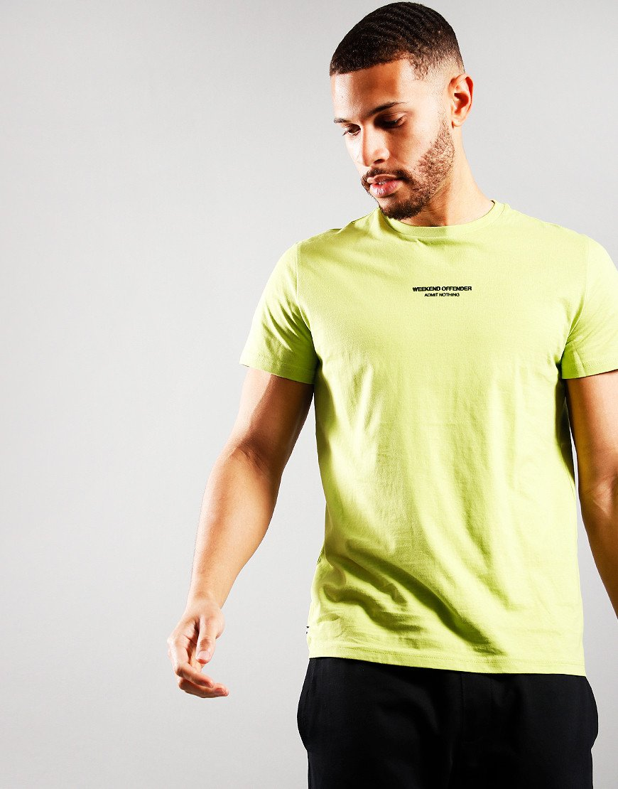Weekend Offender WOAN T-Shirt Lime
