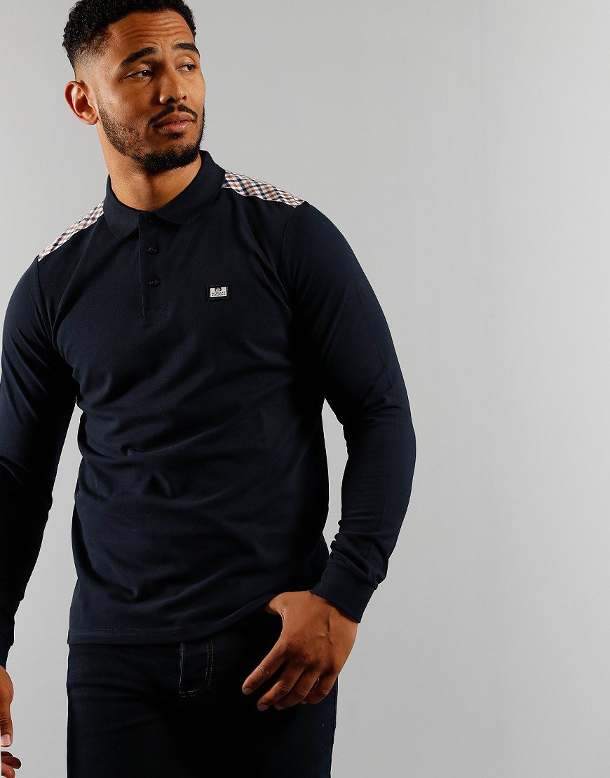Weekend Offender Bismuth Polo Shirt Navy