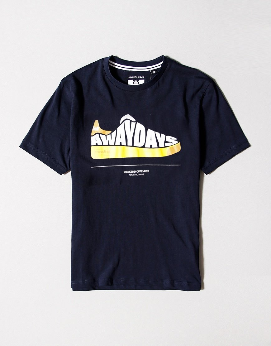 Weekend Offender Kids Away Days T-shirt Navy