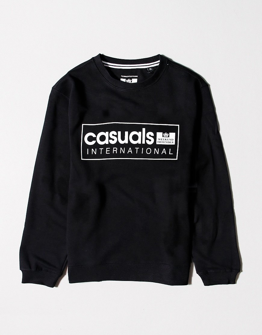 Weekend Offender Kids Casuals International Sweat Black