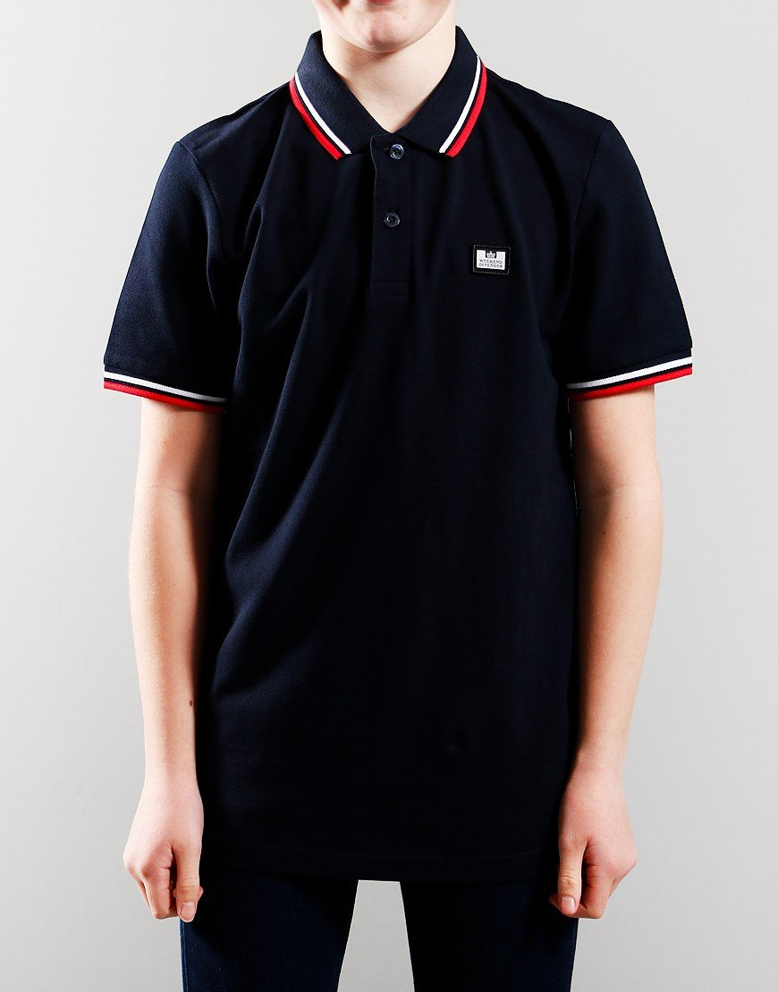 Weekend Ammorite Tip Polo Shirt Navy/White/Red