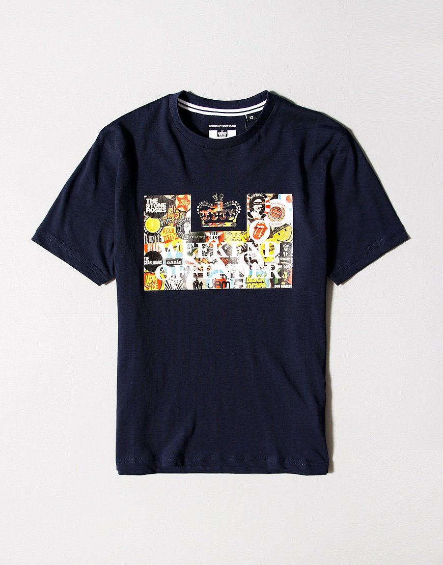 Weekend Offender Kids Badges T-shirt Navy