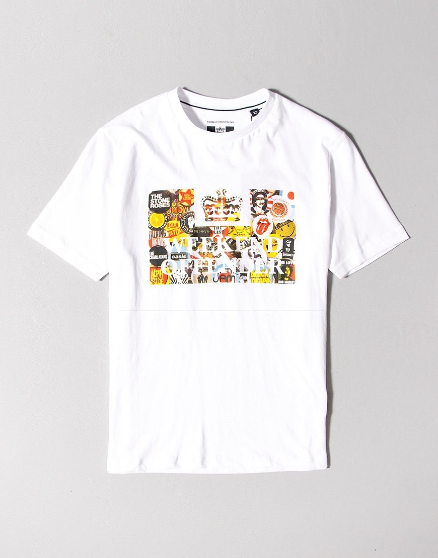 Weekend Offender Kids Badges T-shirt White