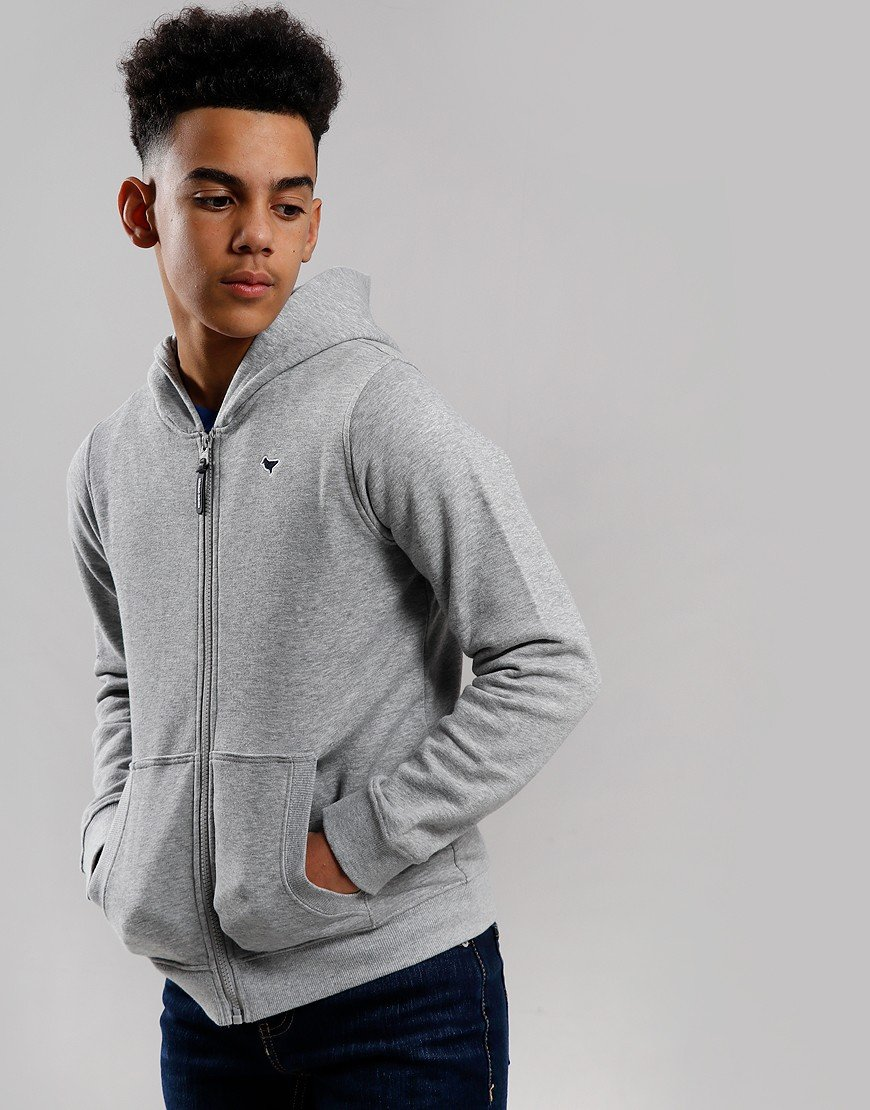 Weekend Offender Kids Dove Zip Hoodie Grey Marl