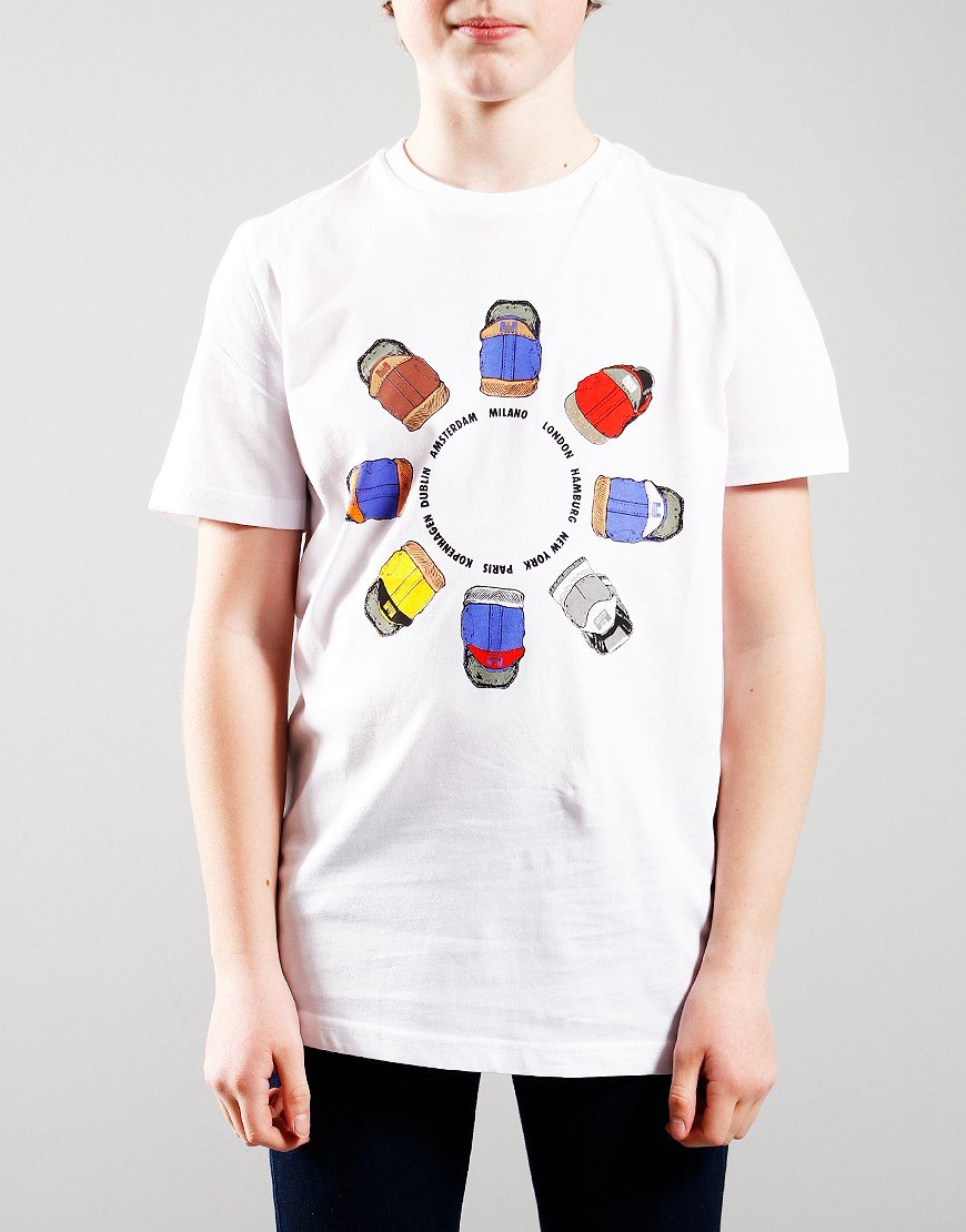 Weekend Offender Kids Heel Wheel T-Shirts White
