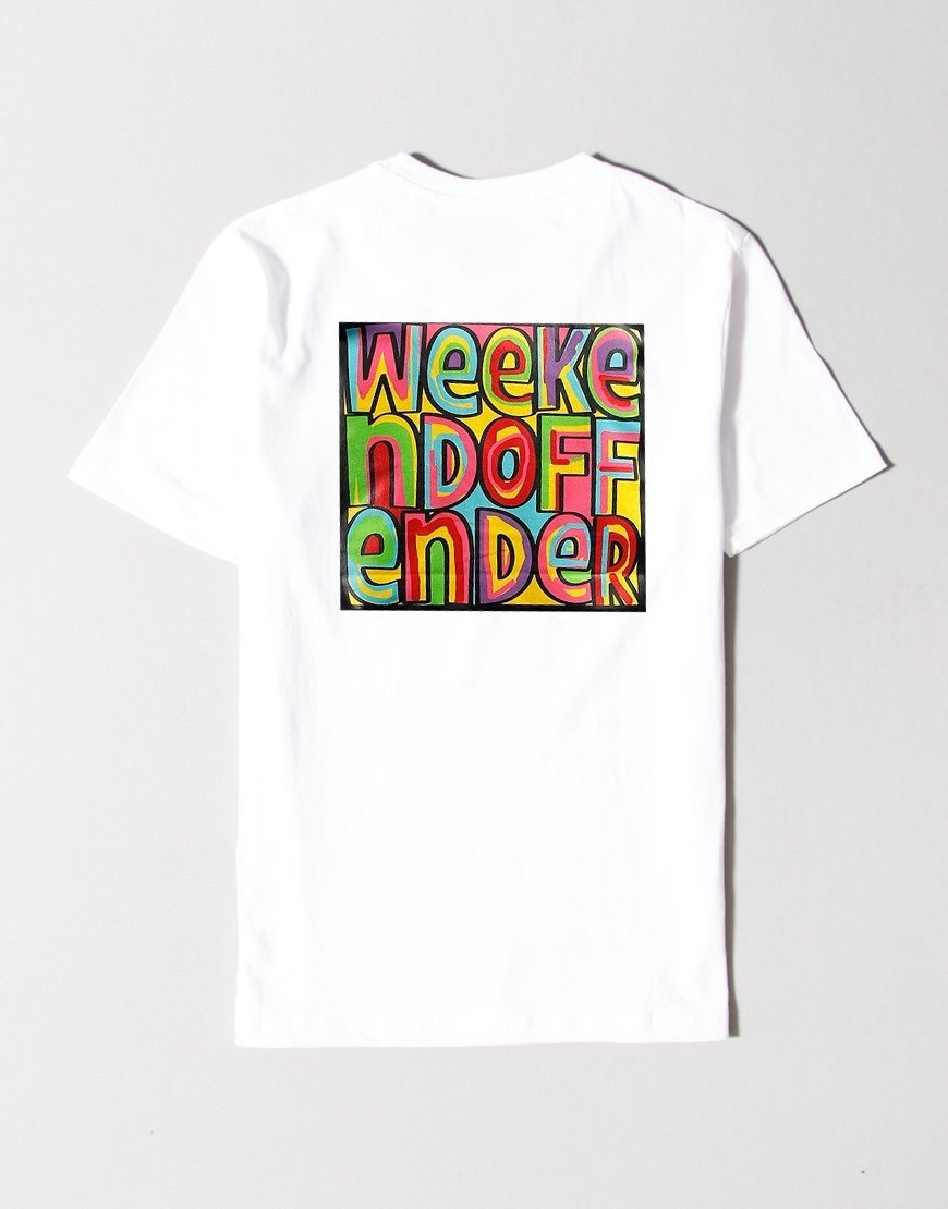 Weekend Offender Kids Mad Cyril Back Print T-Shirt White