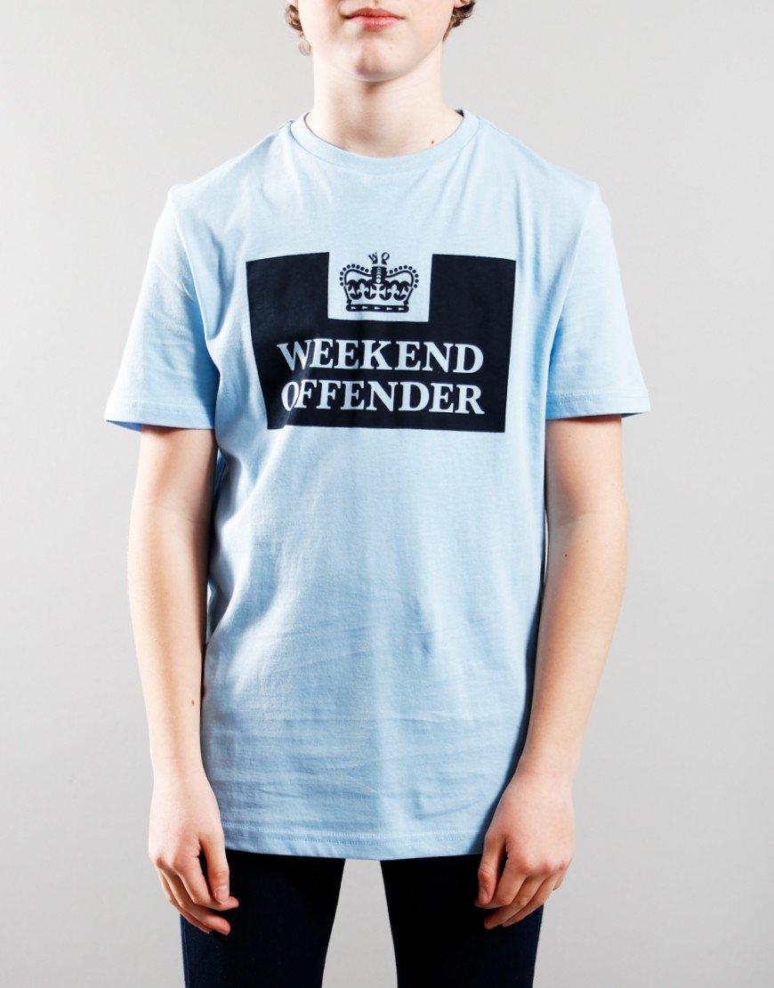 Weekend Offender Kids Prison T-Shirt Sky/Navy