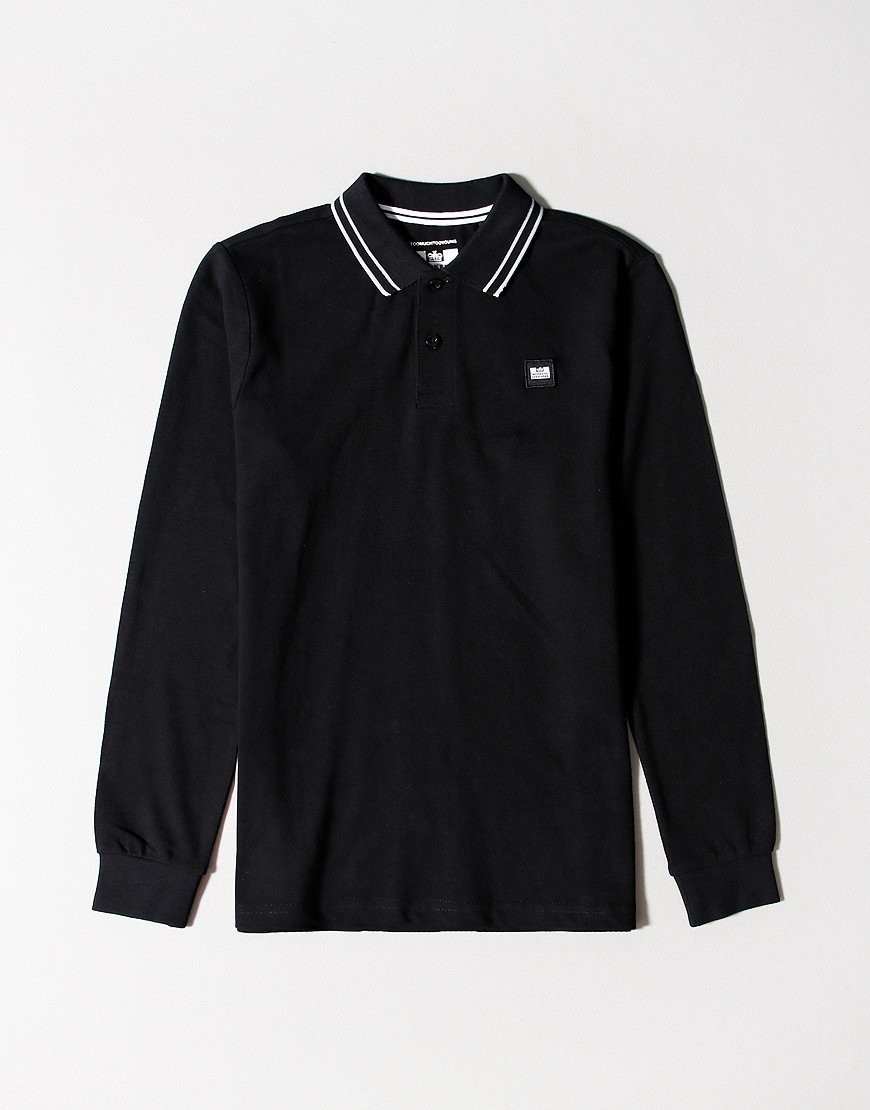 Weekend Offender Kids Duranzo Long Sleeve Polo Black